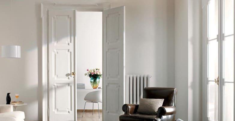 porte interne laccate legno bianco