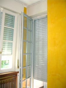 Porta-finestra in PVC bicolore