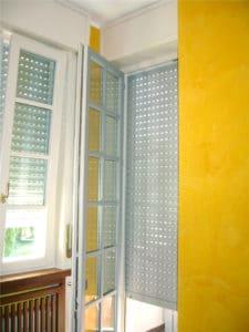 Porta-finestra in PVC bicolore