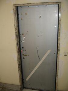 Anta porta blindata priva di rivestimento