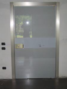 Pannello interno vetro laccato grigio