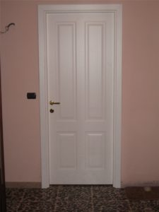 Porta interna laccata bianca pantografata