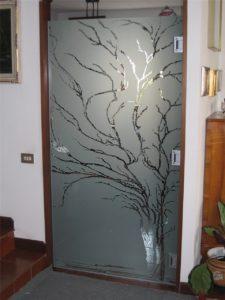 Anta a vetro applicata su telaio esistente