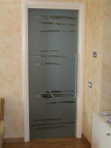 Anta a vetro scorrevole interno muro con maniglione